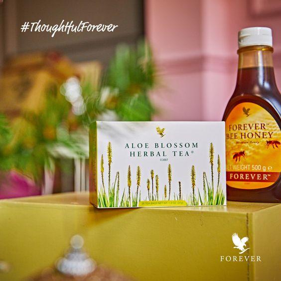 Aloe blossom herbal tea si Forever bee honey