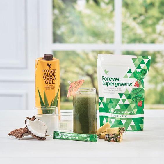 forever supergreens si aloe vera gel